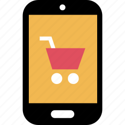 cart, cell, online, phone, sales, shop icon
