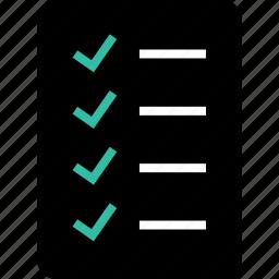 check, list, online, sales, shop icon