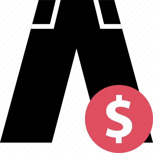 dollar, jeans, online, pants, sales, shop icon