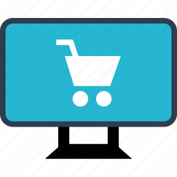 cart, monitor, online, sales, shop, shopping icon