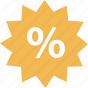 online, percent, sales, shop, tag icon