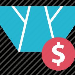 dollar, online, sales, shop, underwear icon