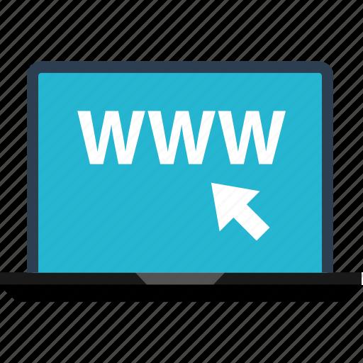 click, laptop, mouse, online, sales, shop, www icon