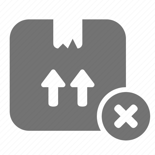 box, cancel, cardboard, delivery, order, package, shipping icon