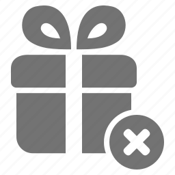 cancel, cross, gift, package, present, shopping icon