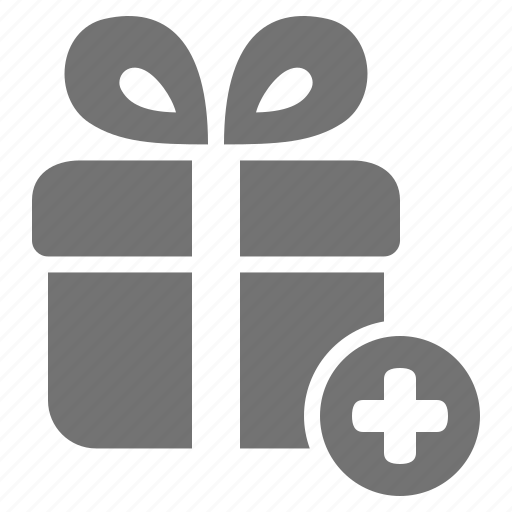 add, consumerism, gift, package, plus, present icon