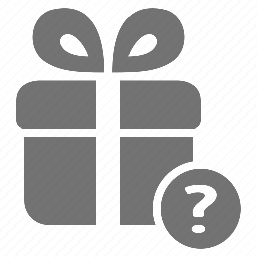assistance, gift, help, package, present, question, shopping icon