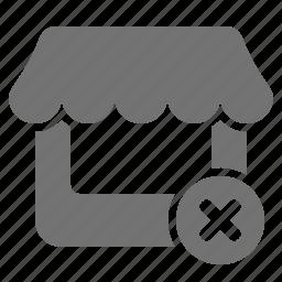 cancel, market, outlet, remove, retail, shop, store icon