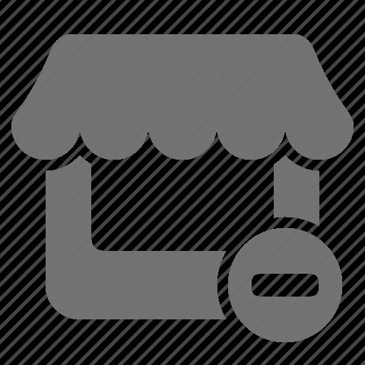cancel, minus, outlet, remove, retail, shop, store icon