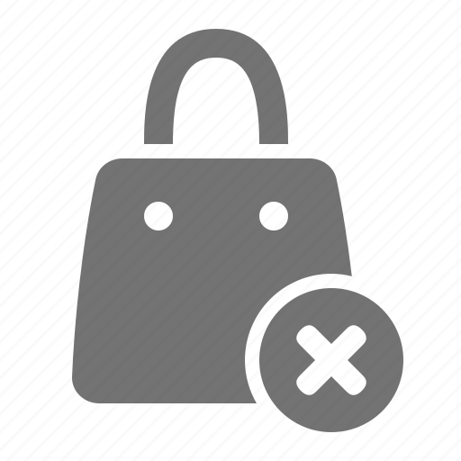 bag, cancel, mall, retail, shop, shopping, store icon