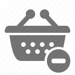 basket, cancel, minus, order, remove, shop, shopping icon