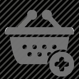 add, basket, plus, retail, shop, shopping, store icon