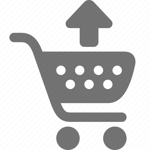 arrow, buy, cart, remove, shopping, unload, up icon