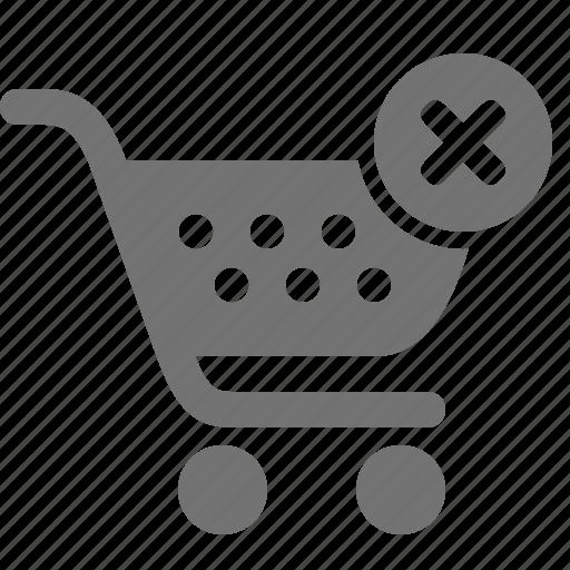 buy, cancel, cart, order, remove, shop, shopping icon