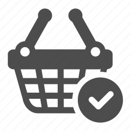 approved, basket, checked, confirm, ok, shopping icon