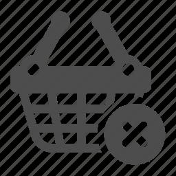 basket, delete, empty, erase, shopping icon