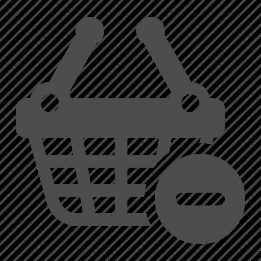 basket, delete, empty, minus, shopping icon