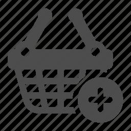 add, basket, buy, plus, shopping icon