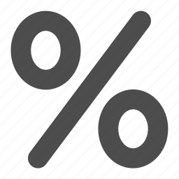 percentage, reduction icon