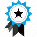 award, ribbon, speciai, star icon