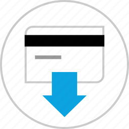 card, credit, download, transaction icon