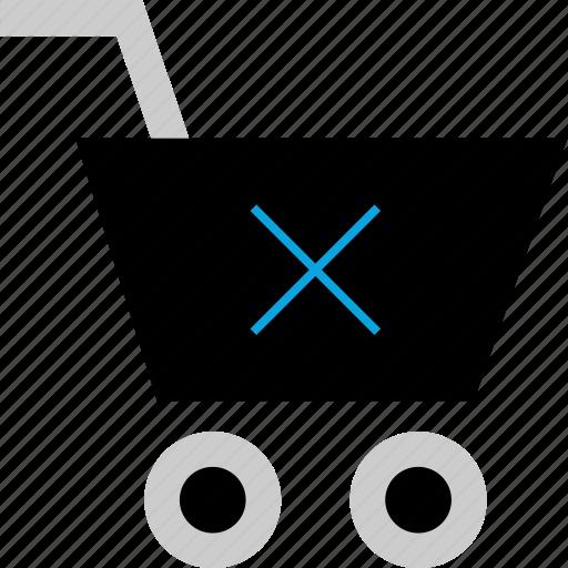 cart, detete, item, shopping icon