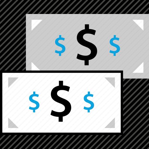 bill, bills, dollar, sign icon