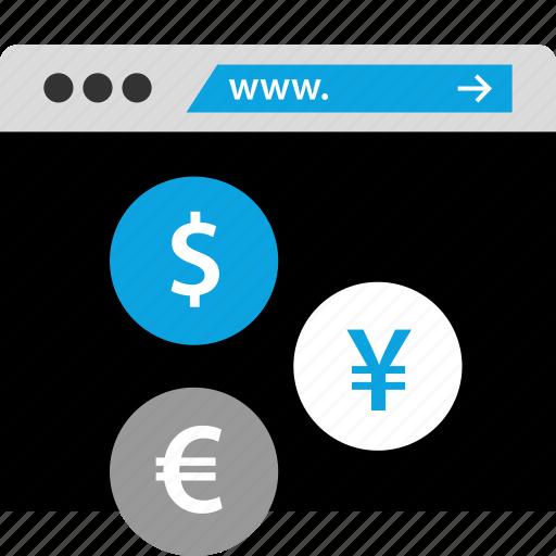 currency, exchange, money, stockmarket icon