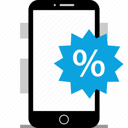 device, mobiel, percentage, rate icon