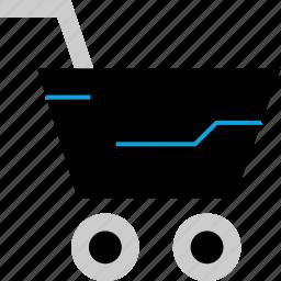 cart, go, shopping icon
