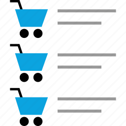 cart, items, list, shopping icon