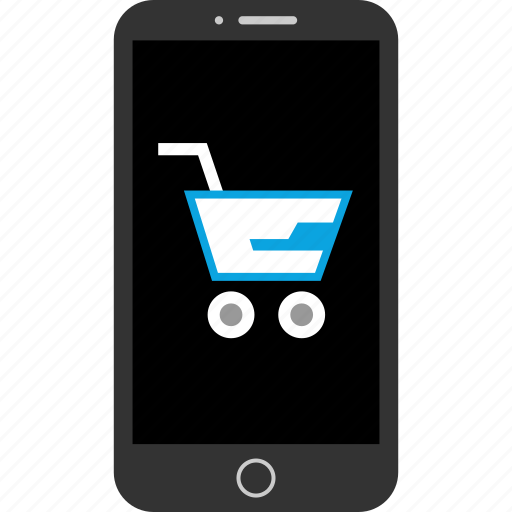 cart, device, mobile, shpping icon
