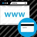 online, paymnet, web, www icon