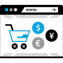 ecommerce, shopping, web, www icon