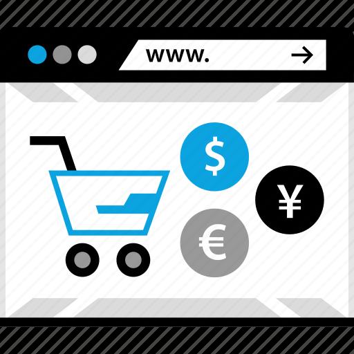 ecommerce, shopping, web, www icon