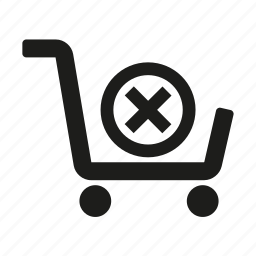 cart, commerce, cross, shopping icon