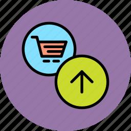 add, basket, business, cart, item, shopping, trade icon