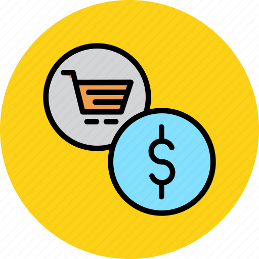 cart, commerce, dollar, finance, online, shopping, trade icon