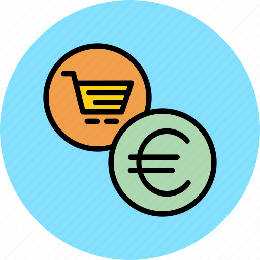 cart, commerce, euro, finance, online, shopping, trade icon