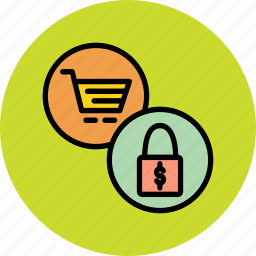 basket, cart, checkout, commerce, disable, lock, shopping icon