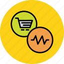 activity, cart, commerce, online, recent, shopping, status icon