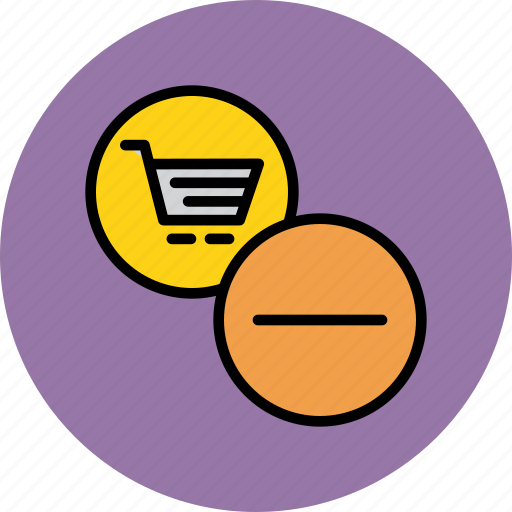 business, cart, finance, item, remove, shopping, trade icon