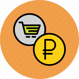 cart, commerce, finance, online, ruble, russian, shopping icon