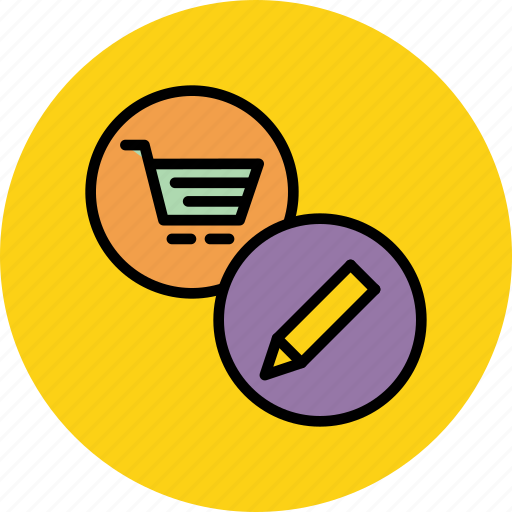 account, commerce, edit, finance, modify, online, shopping icon