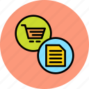 bill, cart, finance, invoice, online, shopping, statement icon
