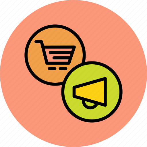 campagin, cart, finance, marketing, online, promotion, shopping icon