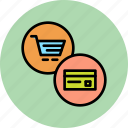 card, cart, credit, debit, finance, online, shopping icon