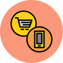 cart, ecommerce, finance, mobile, online, shopping, trade icon