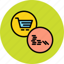 cart, coins, finance, online, payment, shopping, stack icon