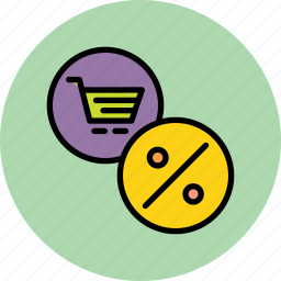 cart, discount, finance, offer, online, rate, shopping icon